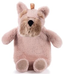 IS Plush Terrier Hot Water Bottle - Pink
