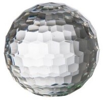 French Country Honeycomb Glass Ball 5""