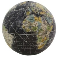 French Country Black Globe 10cmD