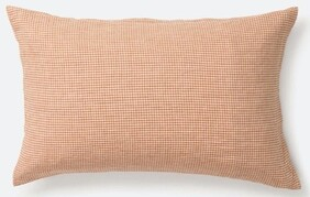 Citta Gingham Linen Pillowcase PR - Malt/Natural 76x50cm