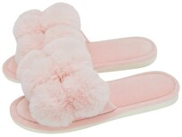 Annabel Trends Cosy Luxe Pom Pom Slippers - Pink