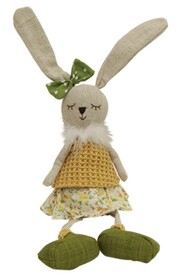 French Country Lucy Sitting Bunny - 15x58cmH