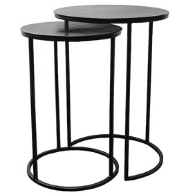 Le Forge Punto Nest of 2 Tables - Black