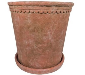 French Country Terracotta Scallop Planter Small