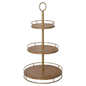 Timber & Brass 3 Tier Round Stand