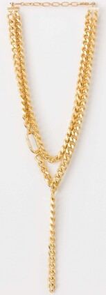 Stella & Gemma Gold Chunky Chains Necklace