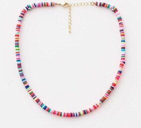 Stella & Gemma Clay Disc Necklace - Carnival