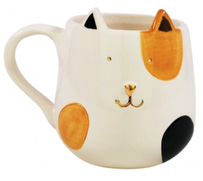 Urban Ginger Cat Mug - White/Orange 12cmH