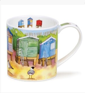 Dunoon Orkney Seaside Beach Huts Mug