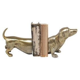 Oneworld Brass Sausage Dog Bookends