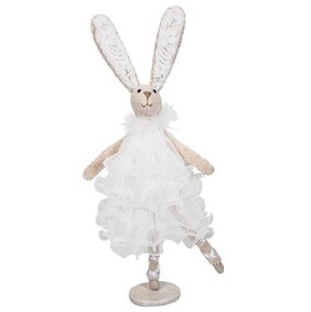 French Country Ballerina Dancing Bunny - White Dress