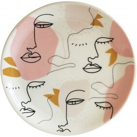 Urban Abstract Face Trinket Dish - Peach 10cmDias
