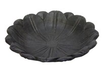 Stoneleigh & Roberson Lotus Wood Carved Bowl - Black