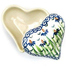 Boleslawiec Rivers Edge Heart Trinket Box