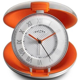 Dalvey Capsule Clock - Orange 80x29mm