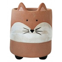 Urban Fox Planter with Legs 12cm - Terracotta & Sand