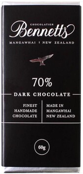 Bennetts of Mangawhai Dark Chocolate Bar - 60g