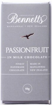 Bennetts of Mangawhai Passionfruit Chocolate Bar - 60g