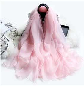 Bow Fashion Pink Cloud Scarf 180x140cm