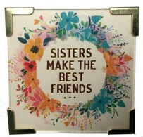 Natural Life Sisters Best Friends Magnet 6.35x6.35cm