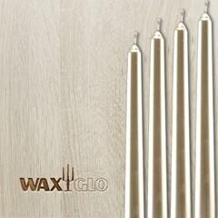 Waxglo Taper Wrapped Candle - Platinum 250mm