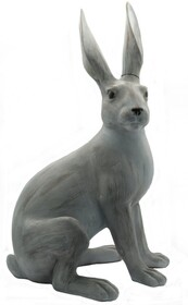 French Country Potter Rabbit Sitting - Grey