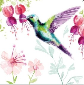 Image Gallery Hummingbird Napkins - Lucheon