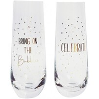 Urban Celebrate Champagne Glass - Gold Set of 2 16cm