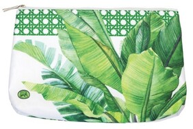 Michel Palm Breeze Cosmetic Bag - Medium
