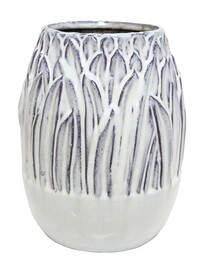 Stoneleigh & Roberson Reed Ceramic Vase 22cmH - Off White