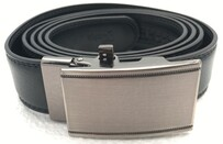 GD Black/Silver Buckle Belt - 135cm