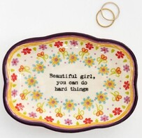 Natural Life Beautiful Girl Trinket Dish