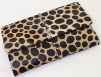 Beau Leopard Leather Wallet