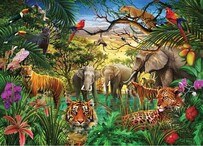 Peter Pauper Press Jungle Life Jigsaw Puzzle - 1000pc