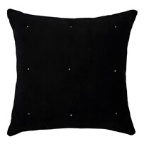 Kerridge Opulent Embroidered Dot Euro Black/White 65x65cm