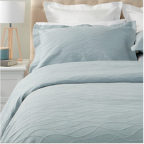 Baksana Calm Waters Bedspread - Duck Egg King