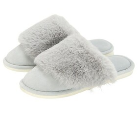 Annabel Trends Cosy Luxe Slipper - Grey