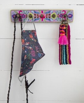 Natural Life Floral Hook Rack