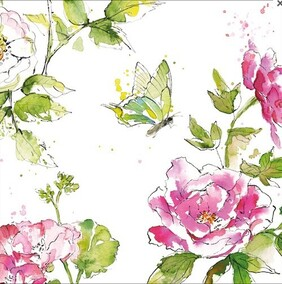 Image Gallery Summertime Rose Napkins - Luncheon