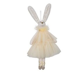 French Country Ballerina Hanging Bunny - Yellow Dress