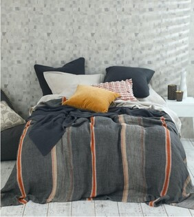MM Linen Faro Throw - Charcoal
