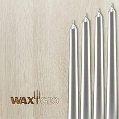 Waxglo Taper Wrapped Candle - Mtlc Silver 250mm