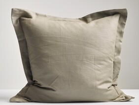 Thread Linen Pillowcase - Olive Euro