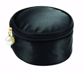 Annabel Trends Satin Jewellery Pouch - Black