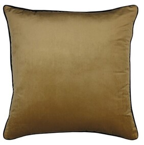 Madras Clifton Velvet Piped Cushion Wheat - 55cm