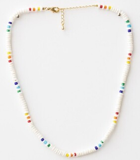 Stella & Gemma White/Colour Beads Necklace