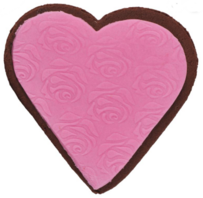 Molly Woppy Pink Heart Iced Gingerbread - 48g