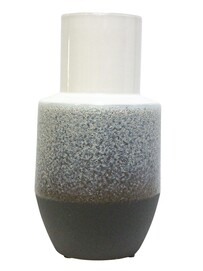 Stoneleigh & Roberson Marle Ceramic Vase 29cmH - White/Grey/Black