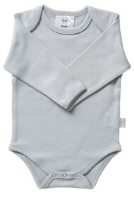 Babu Coastal Long Sleeve Bodysuit - Plain Blue
