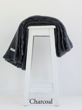 Windermere Mohair Knee Rug Charcoal